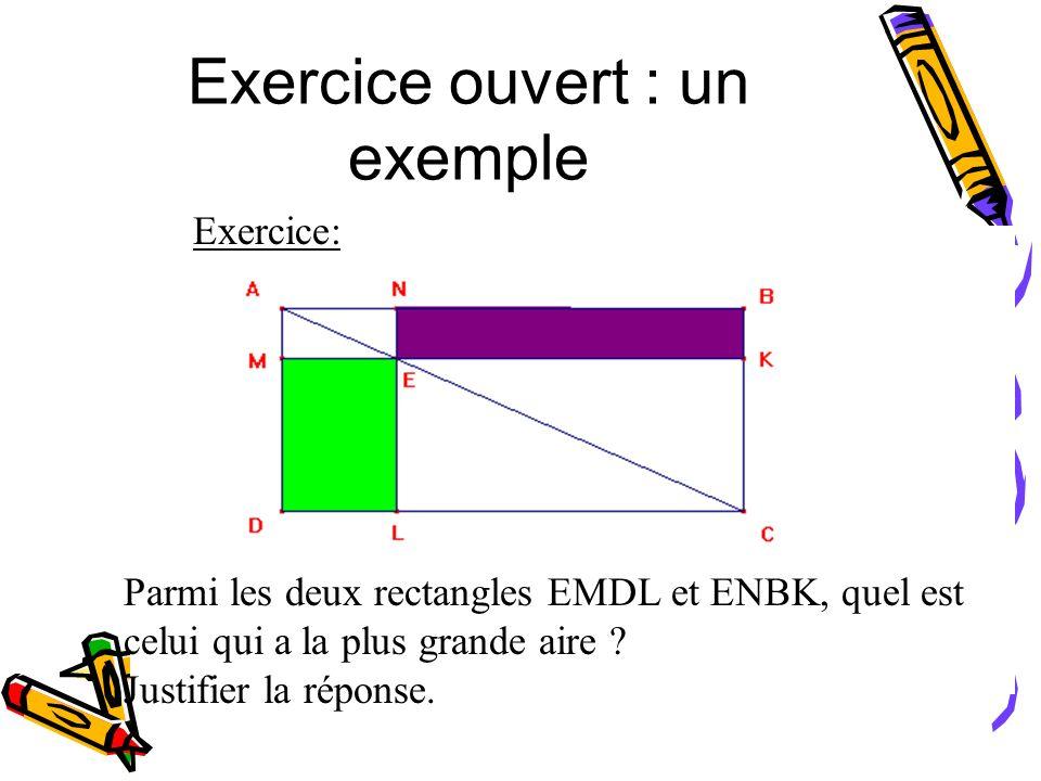 Exercice ouvert : un exemple