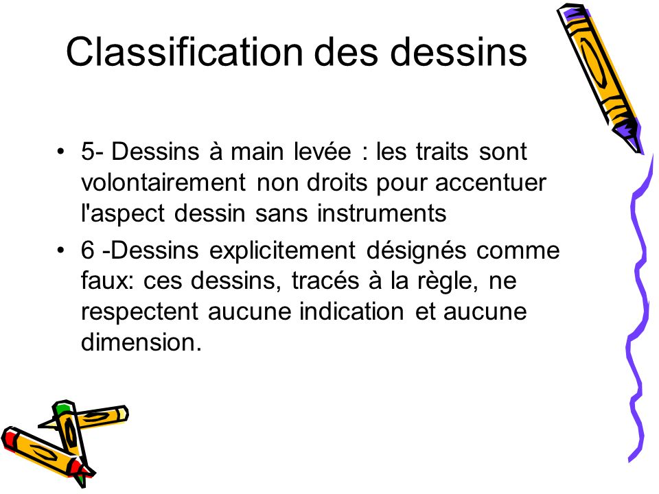 Classification des dessins