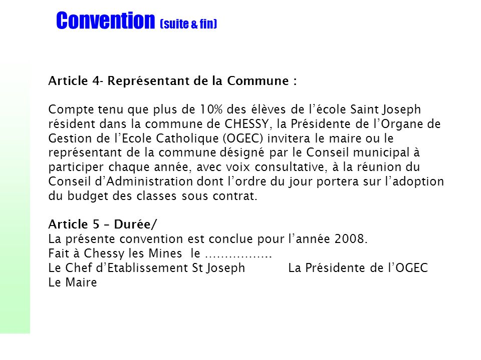 Convention (suite & fin)