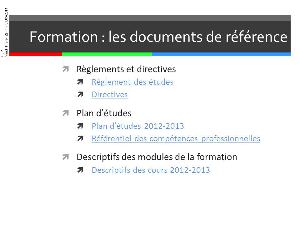 Formation : les documents de référence
