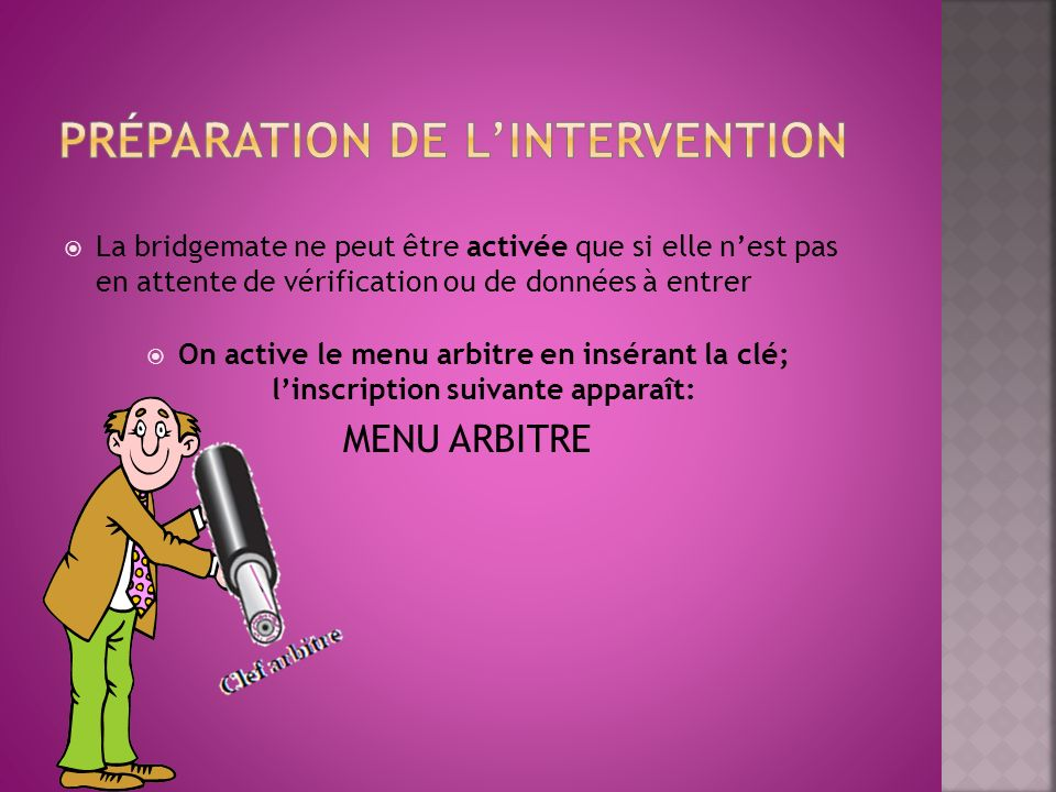 Préparation de l'intervention