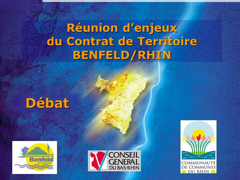 Réunion d'enjeux du Contrat de Territoire BENFELD/RHIN