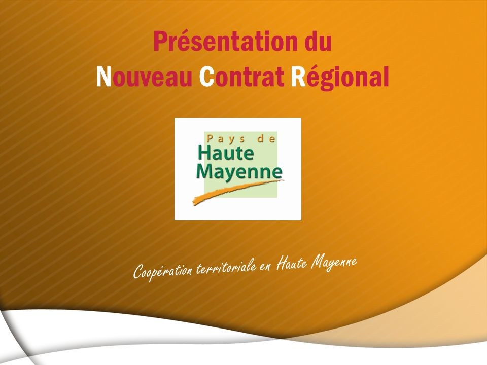 Nouveau Contrat Régional
