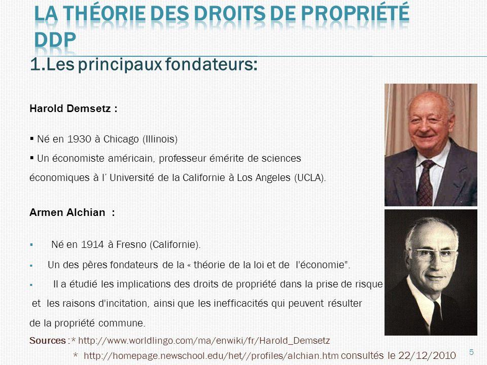 La théorie des droits de propriété ddp
