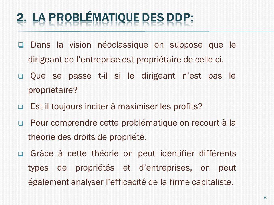 La problématique des ddp: