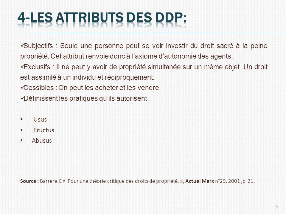 4-les attributs des ddp: