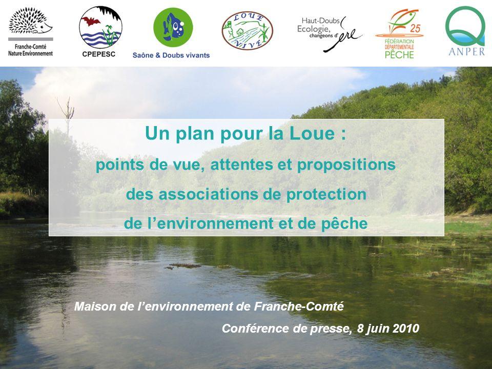 Un plan pour la Loue : points de vue, attentes et propositions