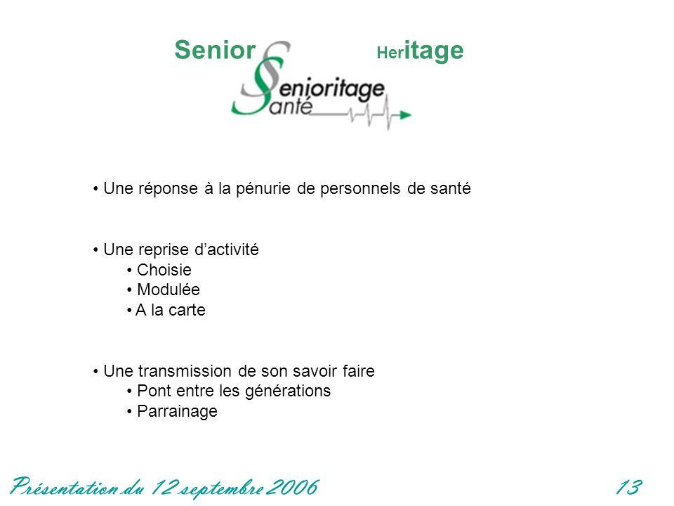 Senior Heritage Une réponse à la pénurie de personnels de santé