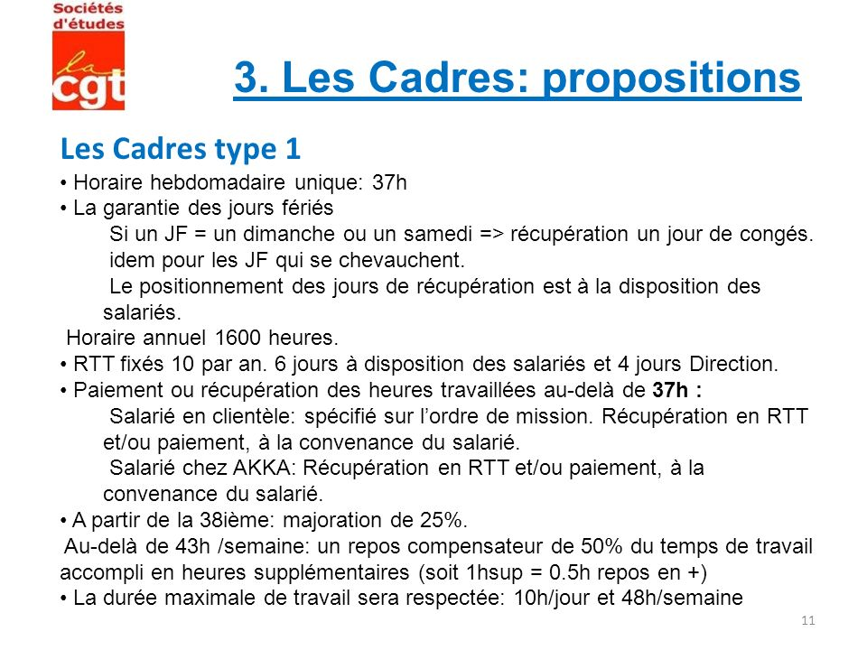 Les Cadres type 1 3. Les Cadres: propositions