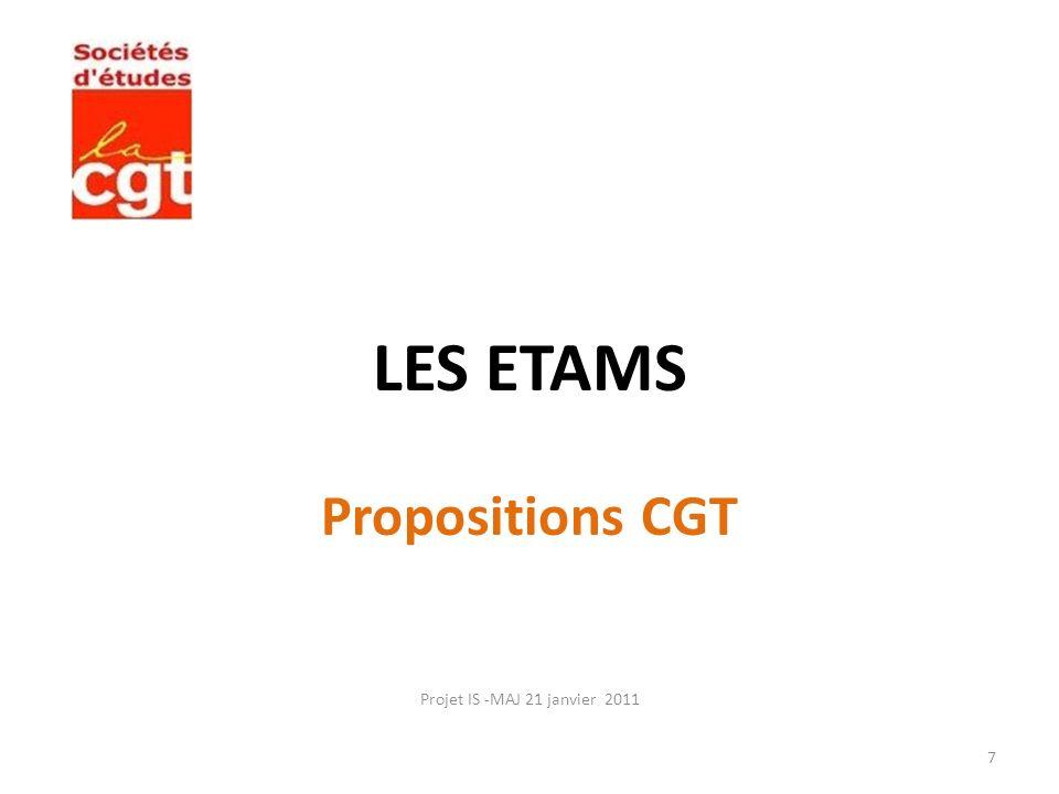 LES ETAMS Propositions CGT