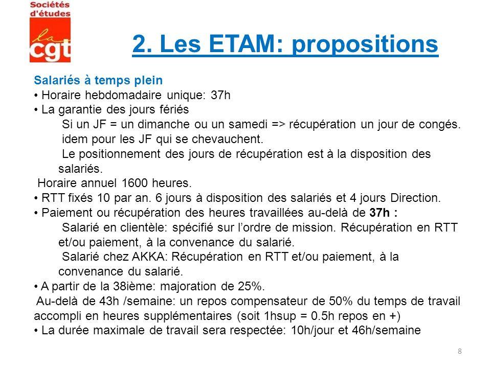 2. Les ETAM: propositions