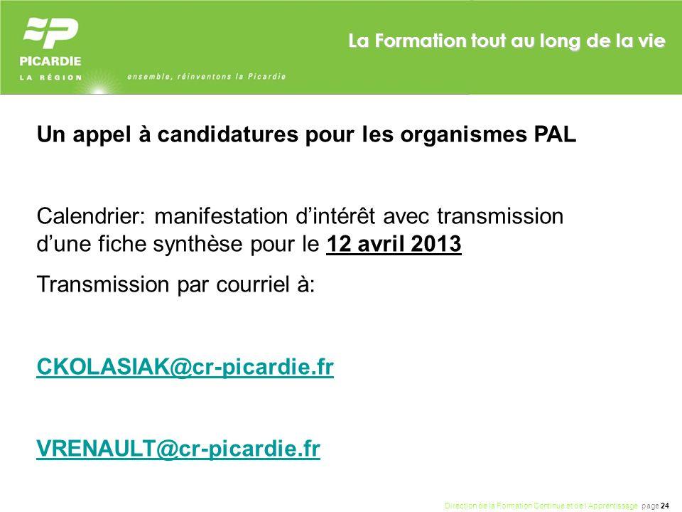Un appel à candidatures pour les organismes PAL