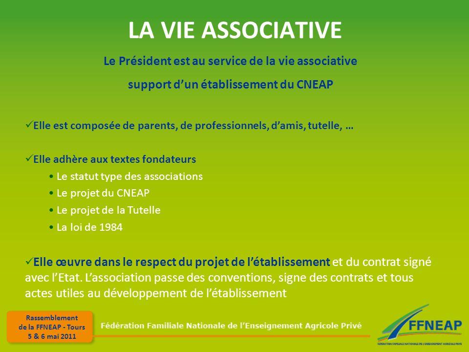 LA VIE ASSOCIATIVE Le Président est au service de la vie associative