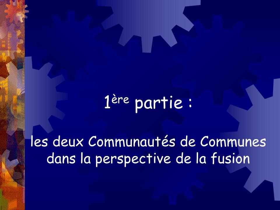 1ère partie : les deux Communautés de Communes dans la perspective de la fusion