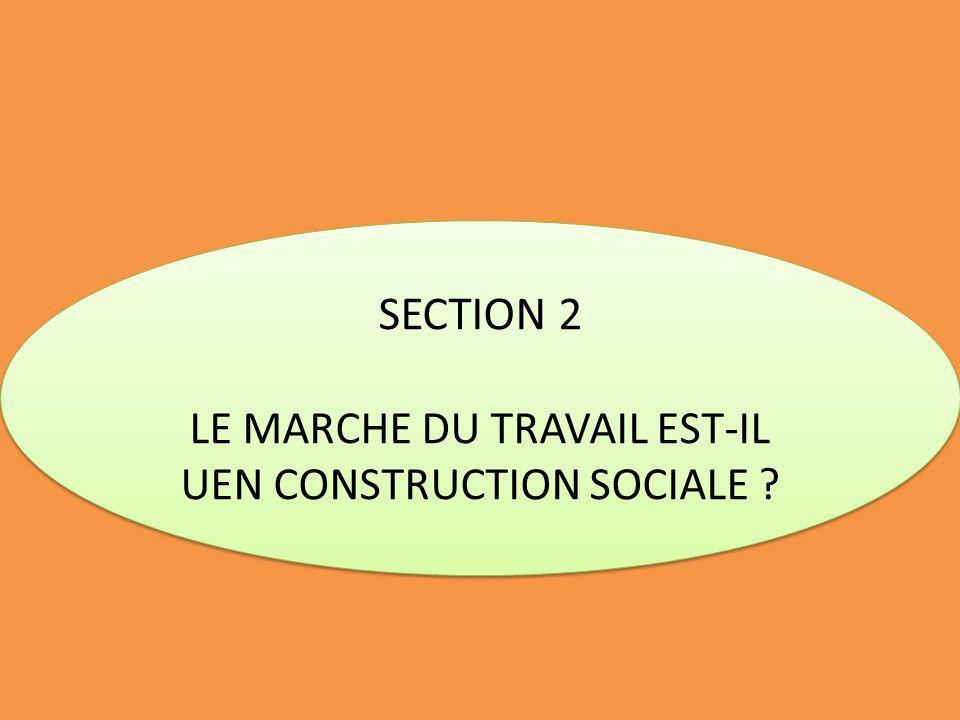 LE MARCHE DU TRAVAIL EST-IL UEN CONSTRUCTION SOCIALE