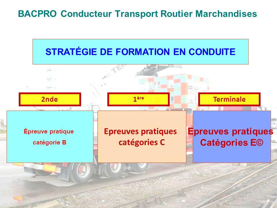 BAC PRO Conducteur Transport Routier Marchandises