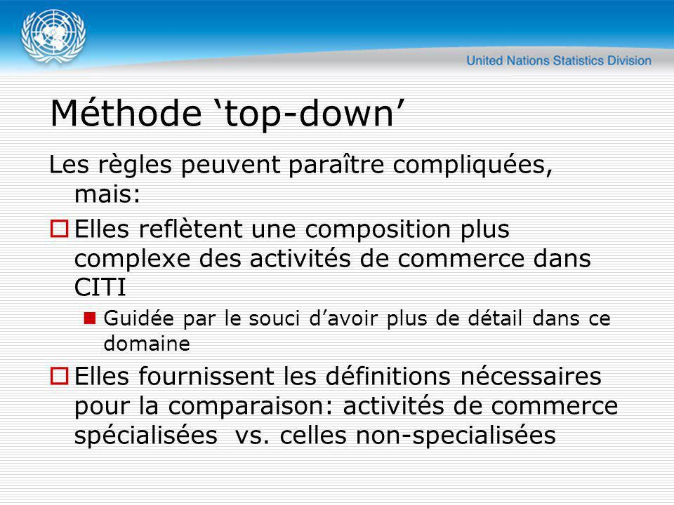 Méthode 'top-down' Les règles peuvent paraître compliquées, mais: