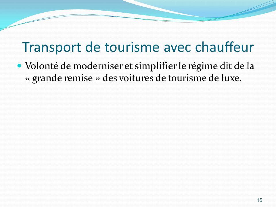 Transport de tourisme avec chauffeur