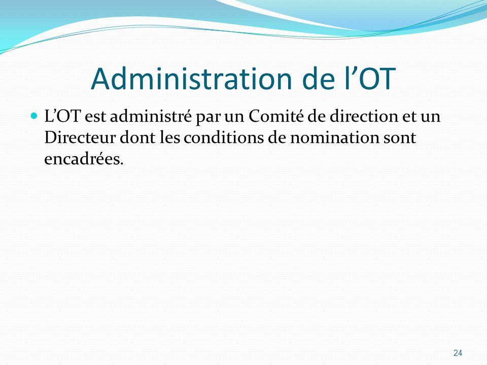 Administration de l'OT