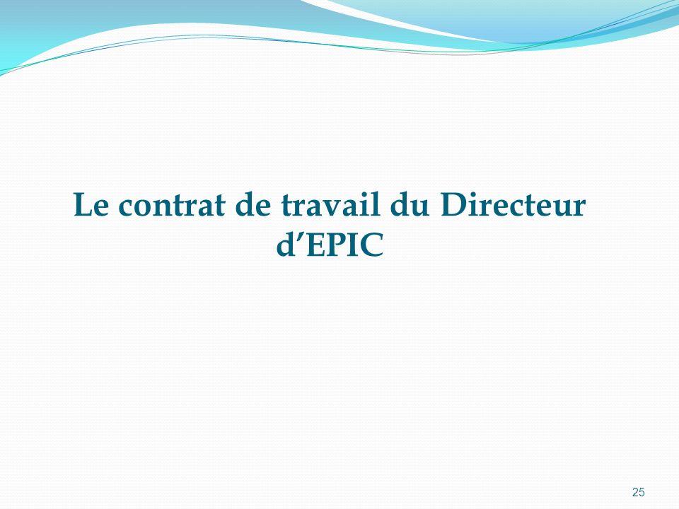Le contrat de travail du Directeur d'EPIC