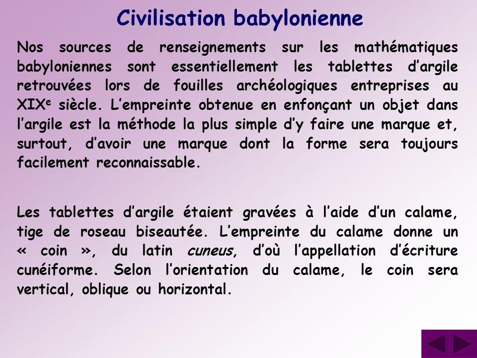 Civilisation babylonienne