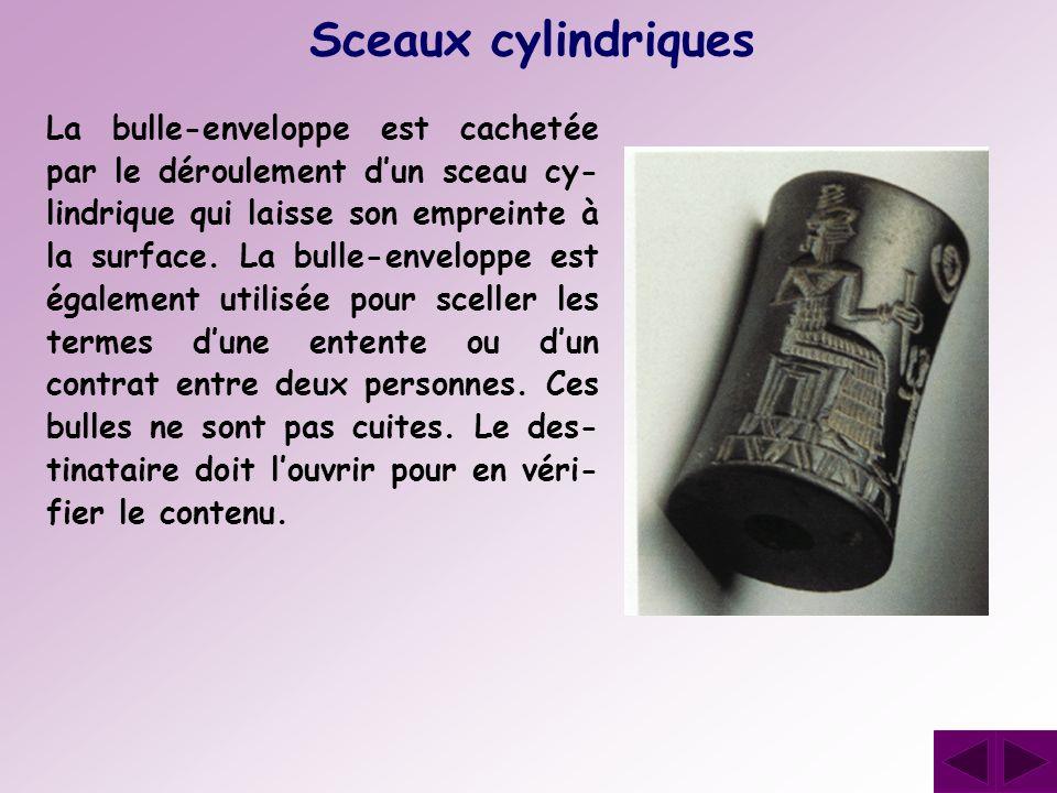 Sceaux cylindriques