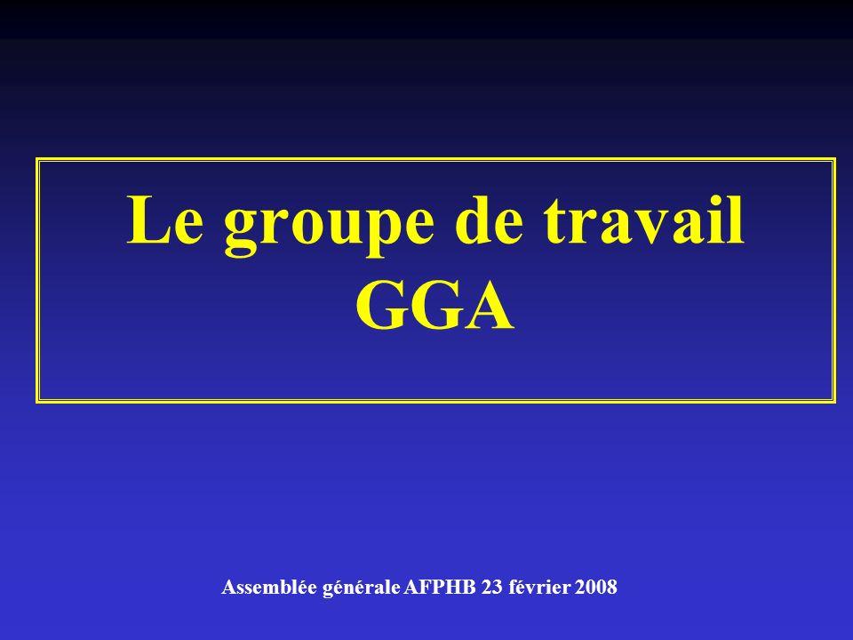 Le groupe de travail GGA