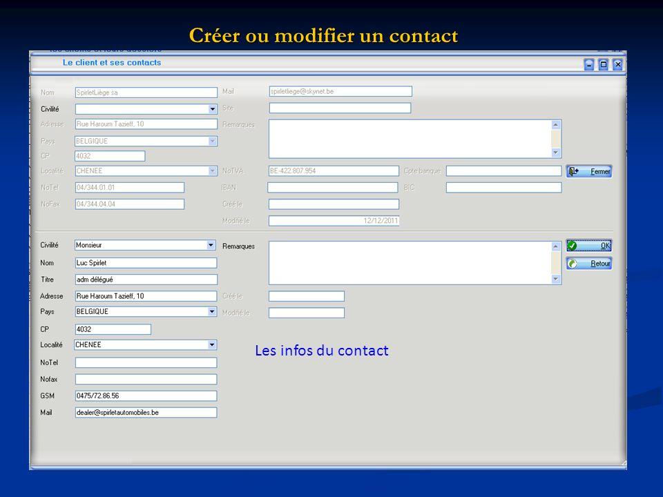 Créer ou modifier un contact