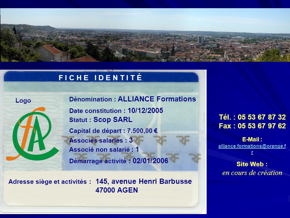 E-Mail : alliance.formations@orange.fr