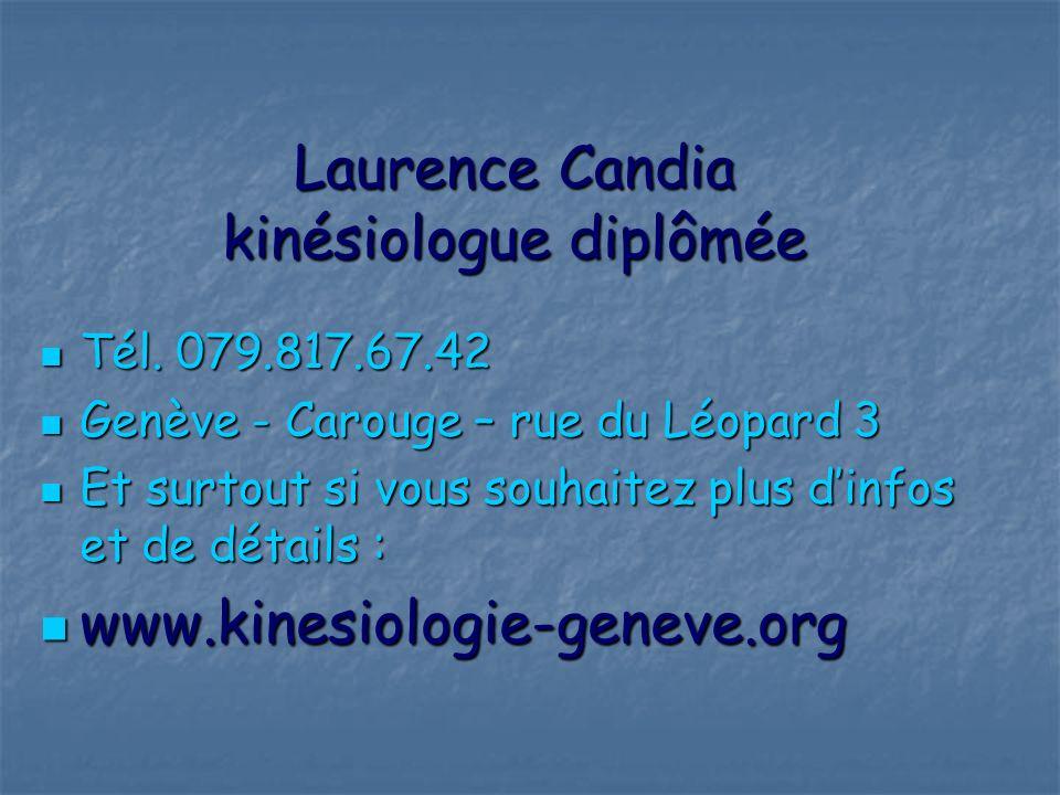 Laurence Candia kinésiologue diplômée