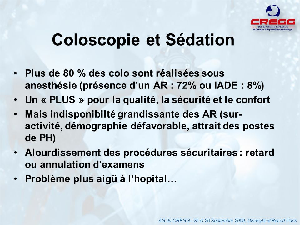 Coloscopie et Sédation
