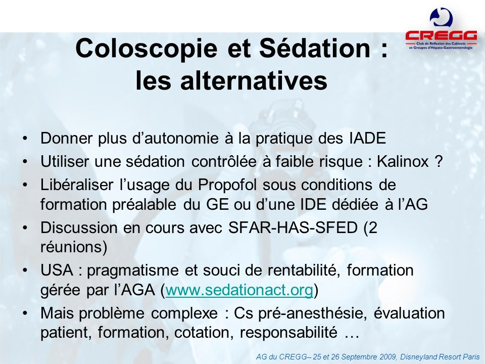 Coloscopie et Sédation : les alternatives