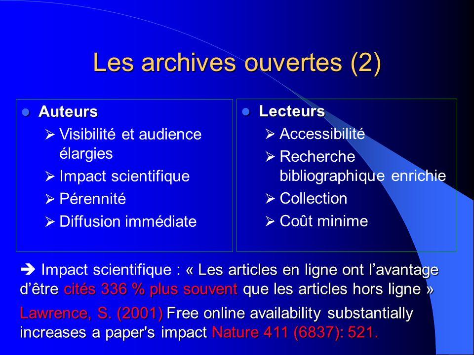 Les archives ouvertes (2)
