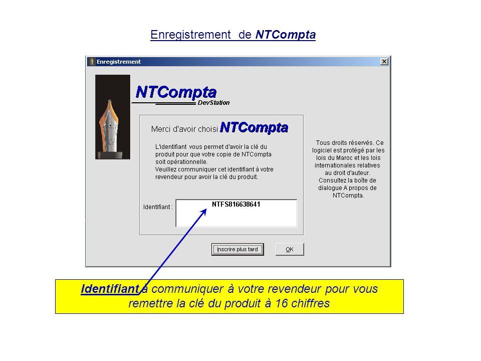 Enregistrement de NTCompta