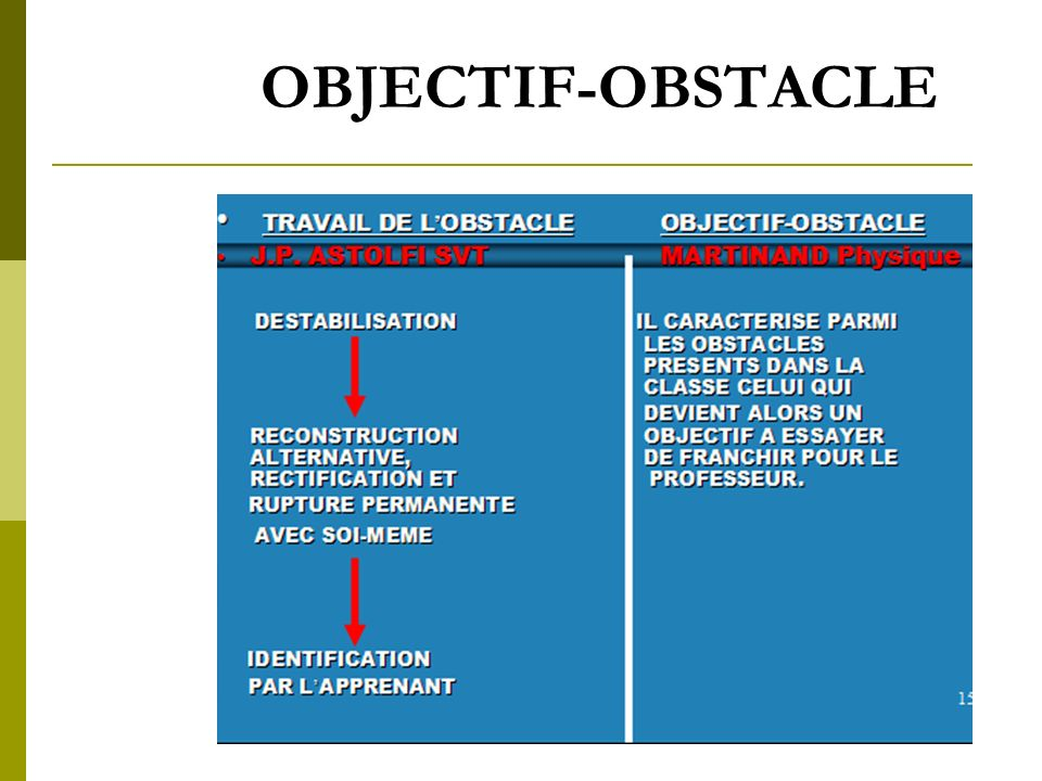 OBJECTIF-OBSTACLE