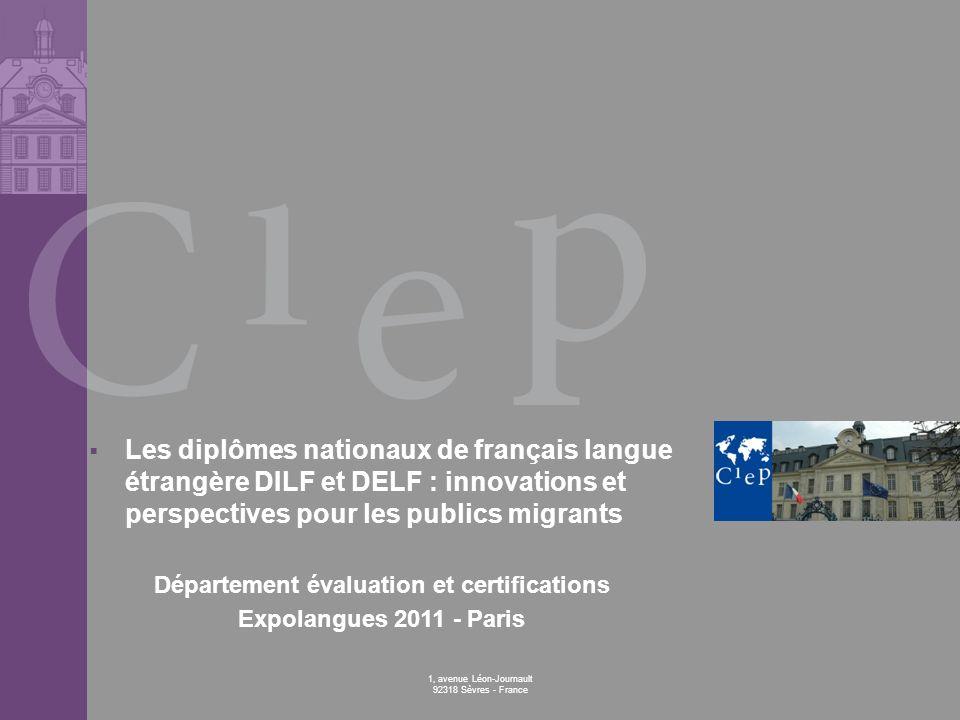 Département évaluation et certifications