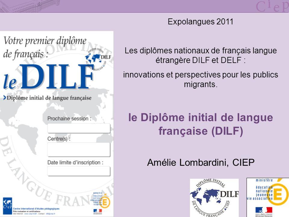 le Diplôme initial de langue française (DILF)