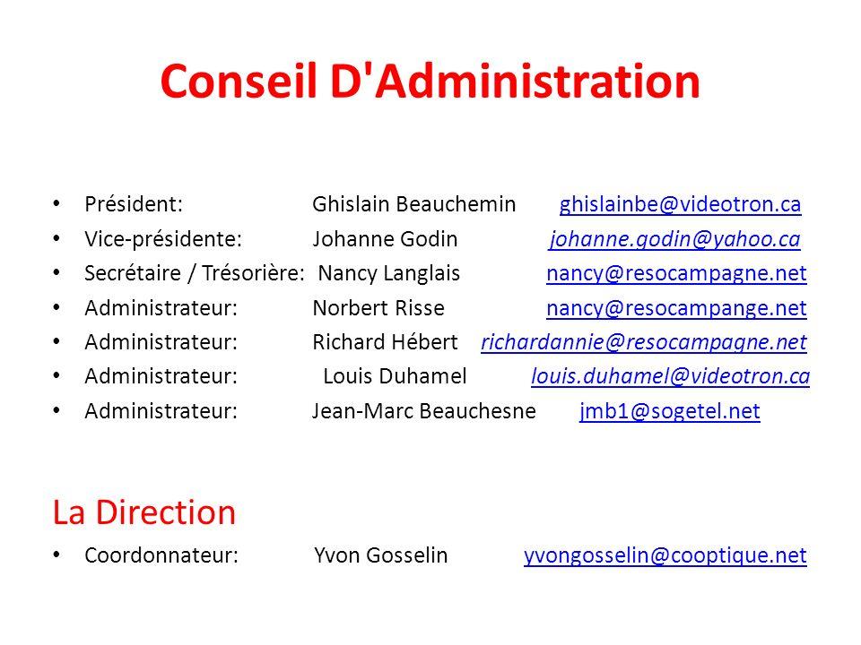 Conseil D Administration