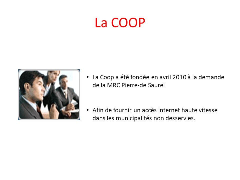 La COOP La Coop a été fondée en avril 2010 à la demande de la MRC Pierre-de Saurel.