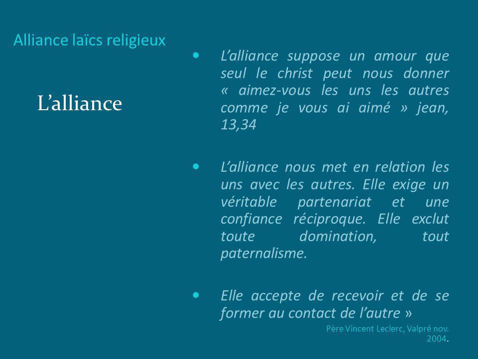 L'alliance Alliance laïcs religieux