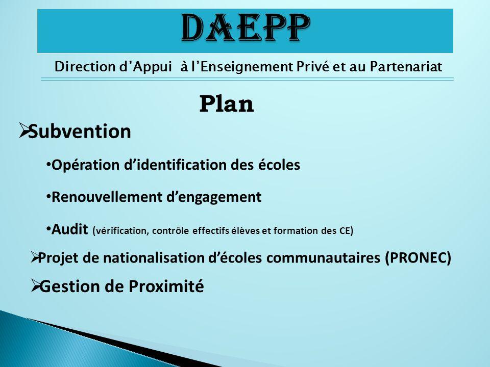 Direction d'Appui à l'Enseignement Privé et au Partenariat