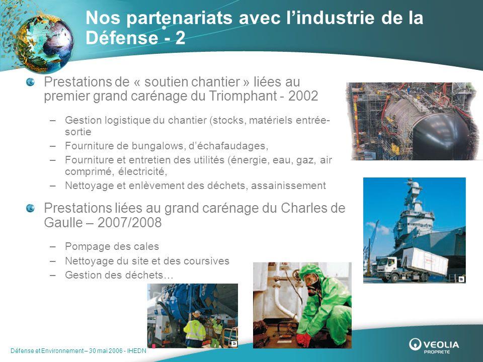 Nos partenariats avec l'industrie de la Défense - 2