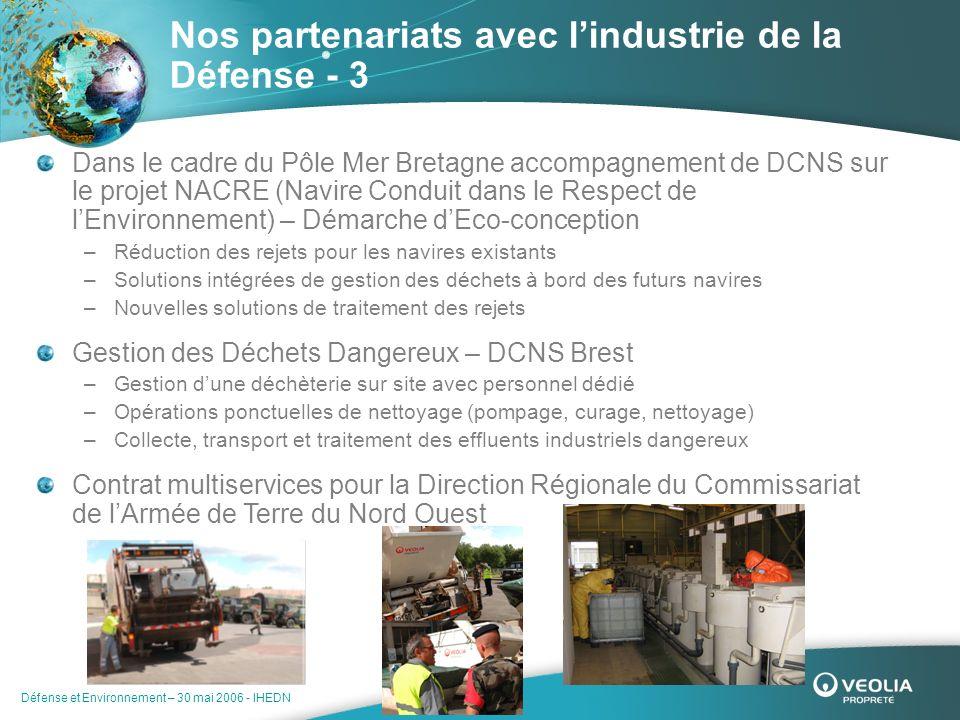 Nos partenariats avec l'industrie de la Défense - 3