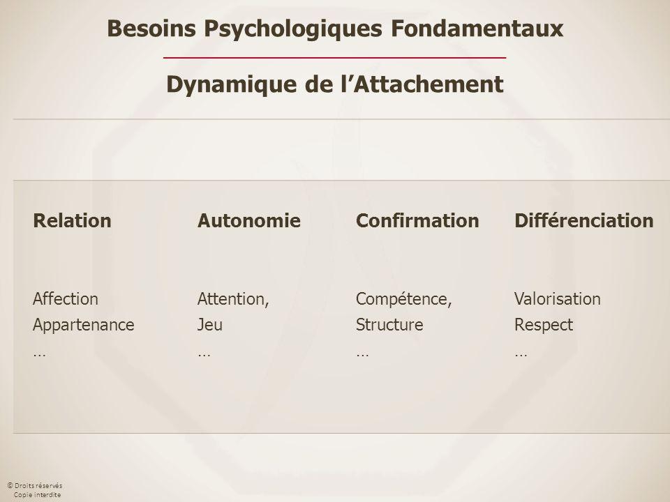 Besoins Psychologiques Fondamentaux Dynamique de l'Attachement