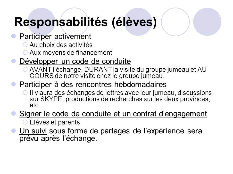 Responsabilités (élèves)