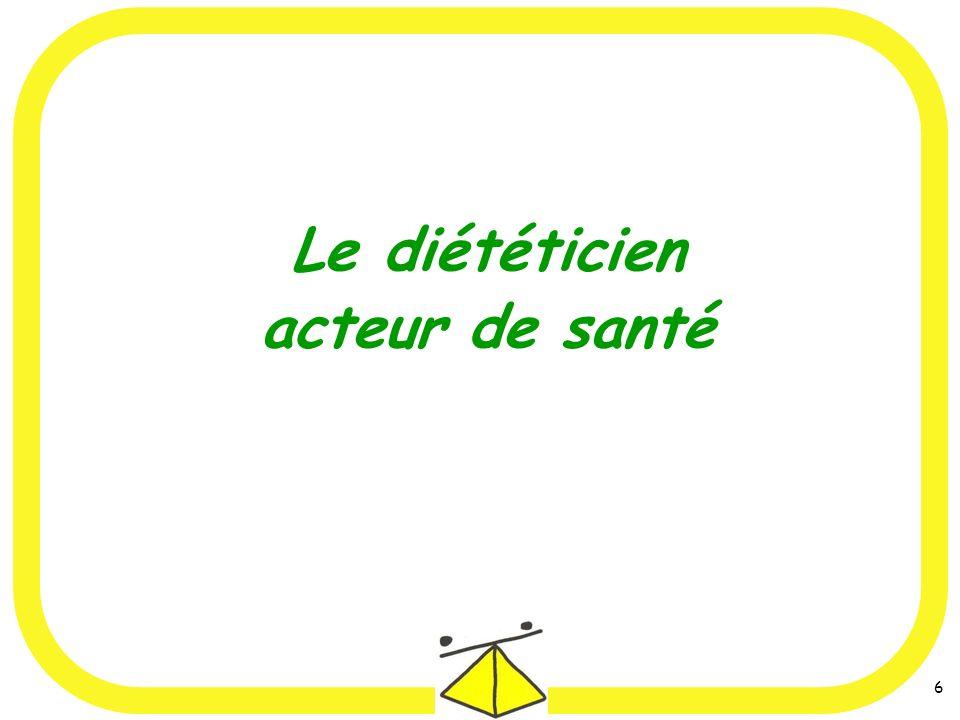 Le diététicien acteur de santé