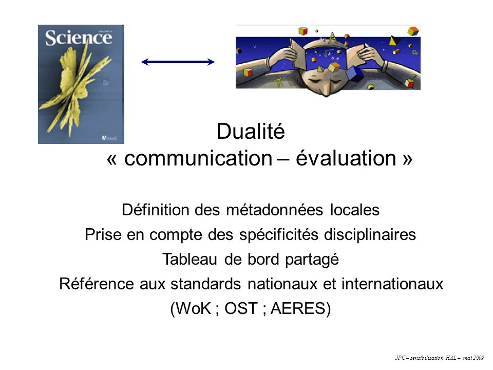 « communication – évaluation »