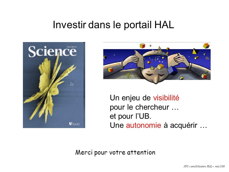 Investir dans le portail HAL