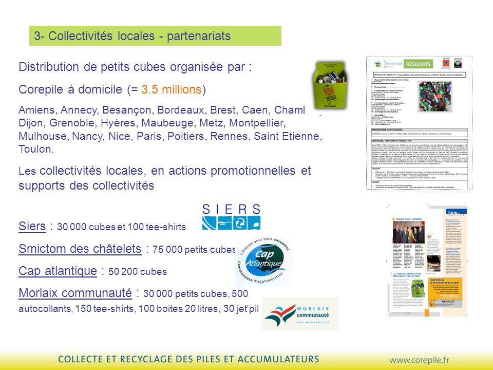 3- Collectivités locales - partenariats