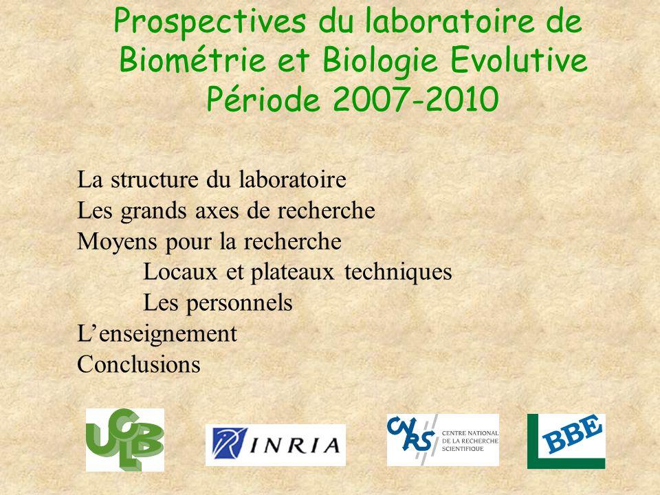 Prospectives du laboratoire de Biométrie et Biologie Evolutive